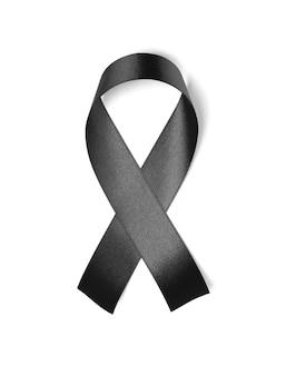 Black ribbon isolated on white background