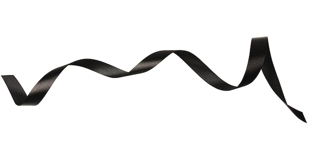 A black ribbons isolated on a white background with clipping path.