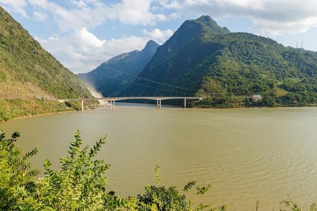 Black river or song da river vietnam
