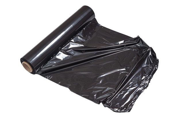 Черный рулон паллетной пленки