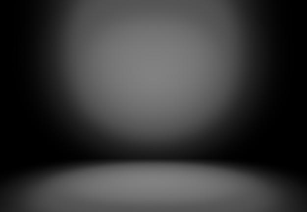 Black room with spotlights
