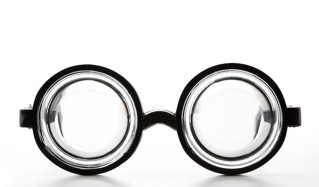 Black round bottle glasses