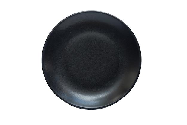 Черная закругленная пластина, изолированная в белом
