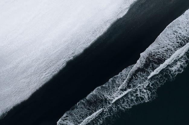 Black sand beach on iceland