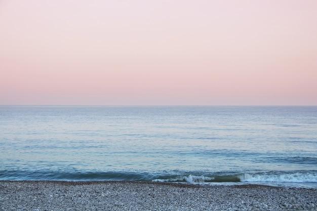 Черное море на закате новый афон абхазия
