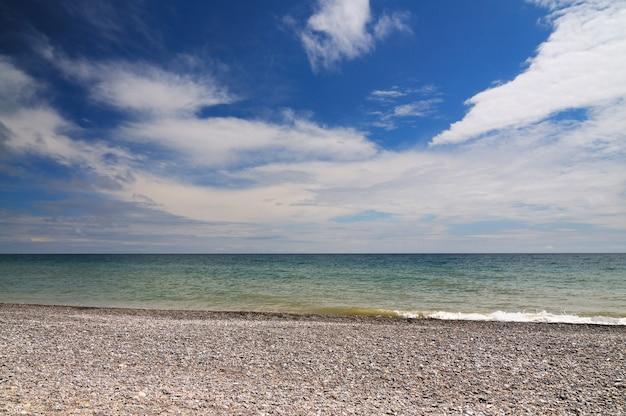 흑해 풍경 크림 해안선 넓은 wiew