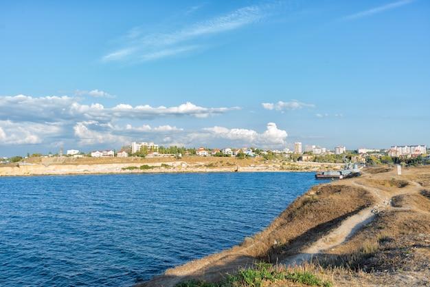 Черноморский курорт крым, россия жаркое лето