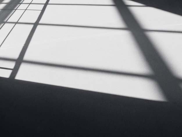 Black shadows on the floor, abstract lines, shadow as background
