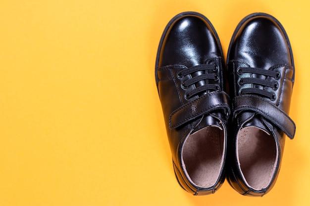 黒い靴の上面図