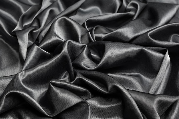 Black silk black fabric