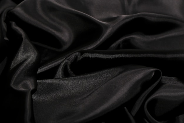 Black silk fabric texture background
