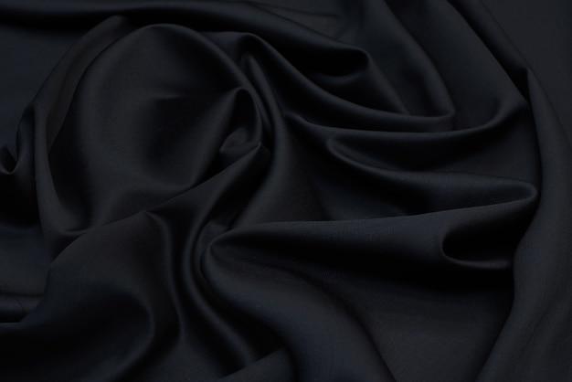 Черная шелковая ткань