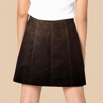 디자인 공간 여성 스트리트 패션 블랙 스커트