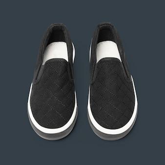 Sneakers streetwear unisex slip-on nere fashion