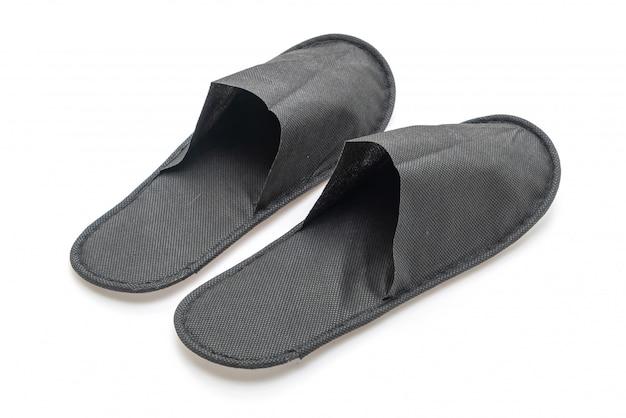Black slipper shoes