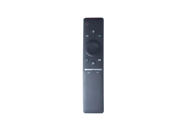 分離された黒のスマートテレビのリモコン