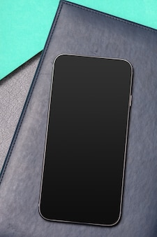 Black smartphone on the table