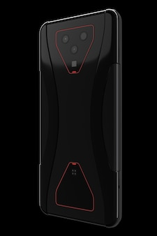 Black smartphone with cameras concept of mobile gaming or streaming