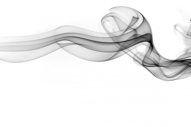 Black smoke abstract on white, fire design
