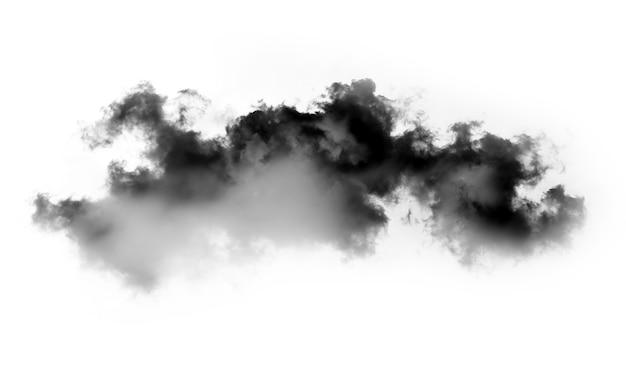 흰 배경에 고립 된 검은 연기