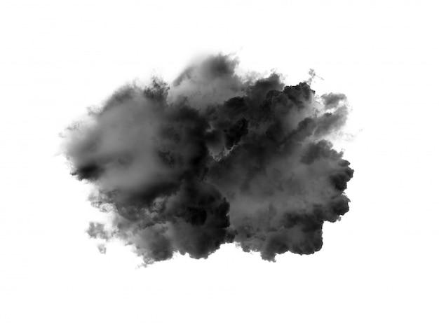 白い壁に黒い煙