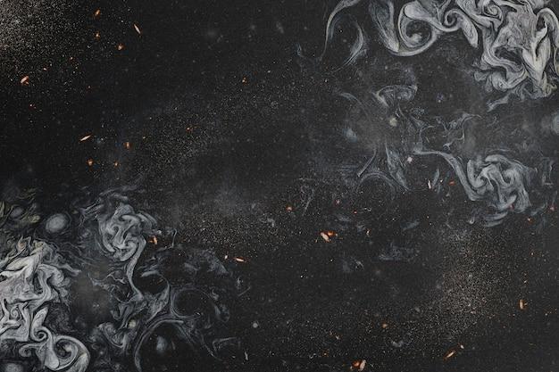黒のスモーキーアートの抽象
