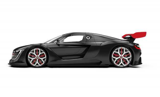 Black sport car isolated on white