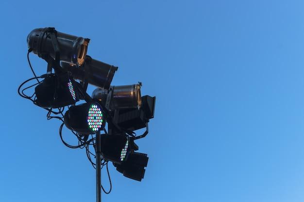 Black spotlights with multi color led lights