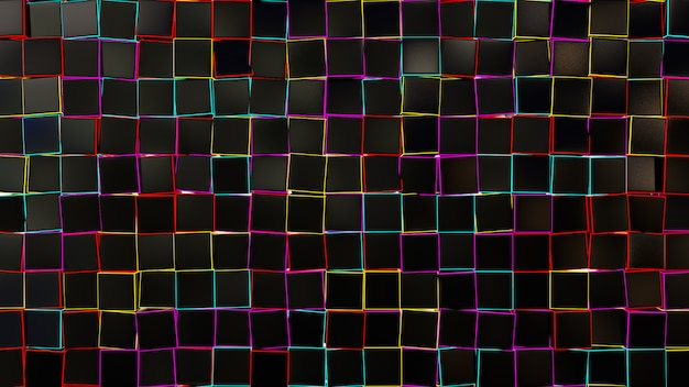 Black square box abstract background