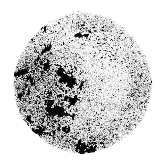 Black stenciled circle with stains -  space for your own text - raster illustration Premium Photo