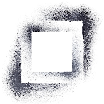 Black stenciled squares - abstract geometrical background -- raster illustration
