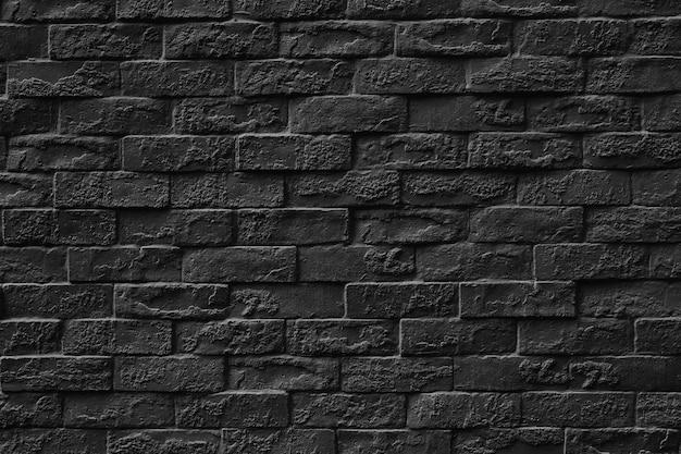 Black stone brick wall texture