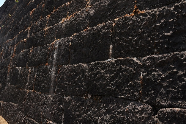 ブラックストーンレンガの壁