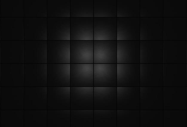 Black stone tiles on wall