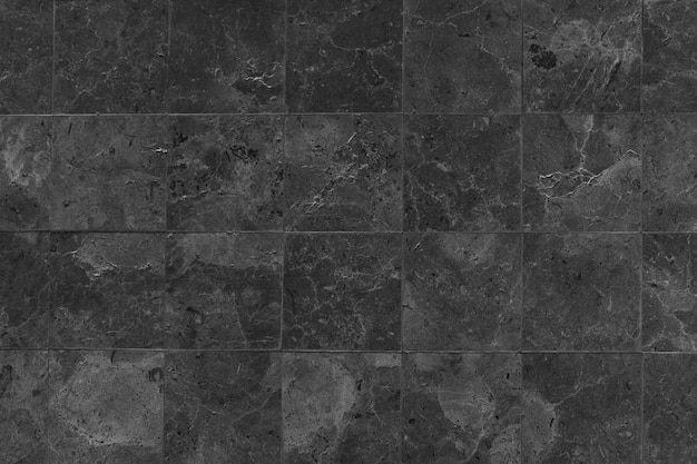 Black stones tiled floor