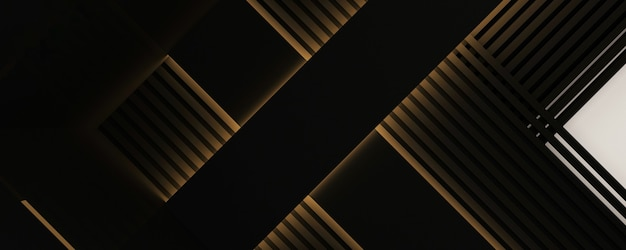 Black stripes abstract background, 3d rendering image