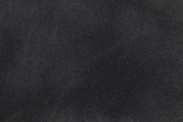 Black suede fabric closeup