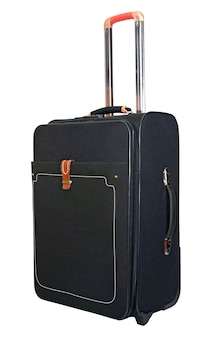 Black suitcase for trips and rest