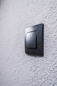 Black switch on the wall
