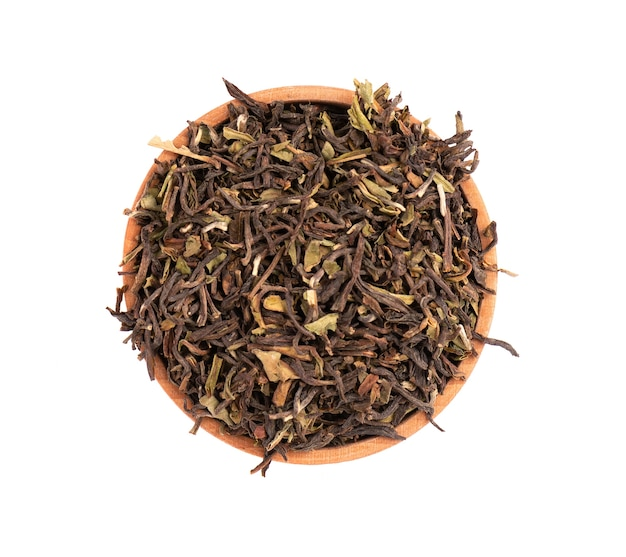 Black tea darjeeling isolated