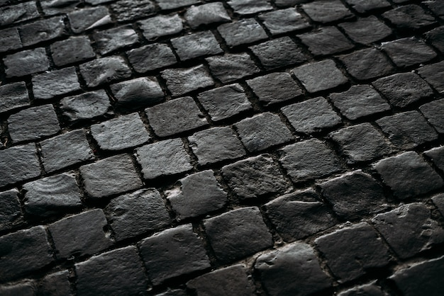 Black texture of the road.