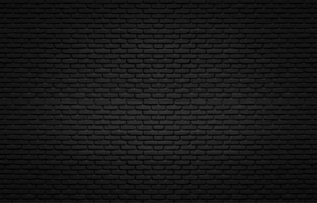 Черная текстура с кирпичной стеной для фона