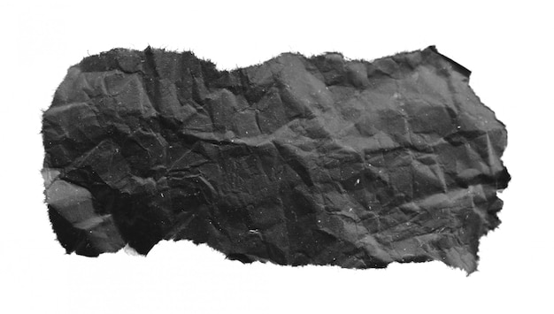 Black torn paper texture, copy space.