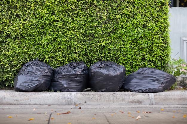 黒ゴミ袋廃棄物の並べ替えの概念
