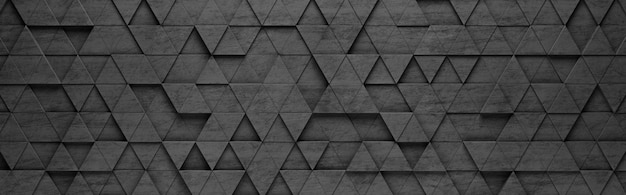 Black triangles 3d pattern background