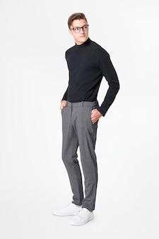 Черная водолазка мужская деловая одежда