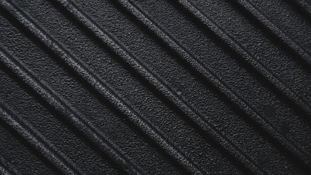 Черная использованная грубая чугунная сковорода для гриля, ребристый фон
