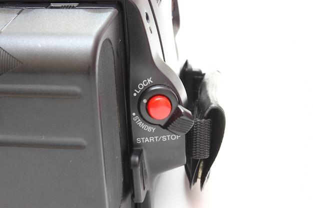 Черная видеокамера с кнопками и переключателями