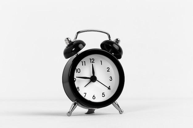 Black vintage alarm clock