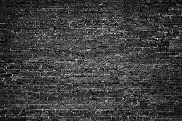 검은 벽, 벽돌 질감, 어두운 배경
